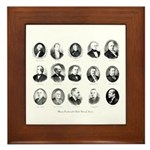 Freemason Presidents Framed Tile