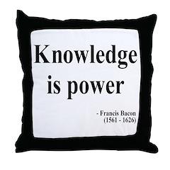 Francis Bacon Text 1 Throw Pillow