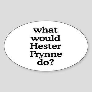 Hester Prynne Oval Sticker