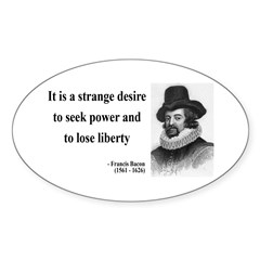 Francis Bacon Quote 2 Oval Decal