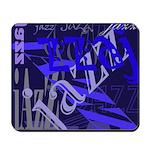 Jazz Blue on Blue Mousepad