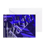 Jazz Blue on Blue Greeting Cards (Pk of 20)