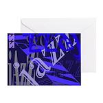Jazz Blue on Blue Greeting Card