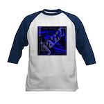 Jazz Blue on Blue Kids Baseball Jersey