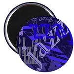 Jazz Blue on Blue Magnet