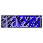 Jazz Blue on Blue Bumper Sticker (10 pk)