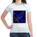 Jazz Blue on Blue Jr. Ringer T-Shirt