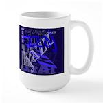 Jazz Blue on Blue Dark Large Mug