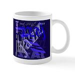 Jazz Blue on Blue Dark Mug
