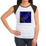 Jazz Blue on Blue Women's Cap Sleeve T-Shirt
