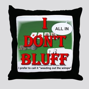 Poker Bluffer Throw Pillow