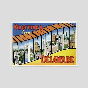 Wilmington Delaware DE Rectangle Magnet