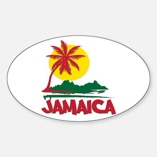 Jamaica Sunset Oval Decal