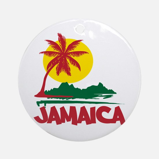 Jamaica Sunset Ornament (Round)