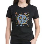 Peace & Butterflies Women's Dark T-Shirt
