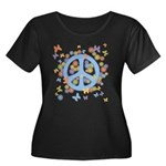 Peace & Butterflies Women's Plus Size Scoop Neck D