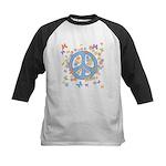Peace & Butterflies Kids Baseball Jersey
