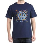 Peace & Butterflies Dark T-Shirt