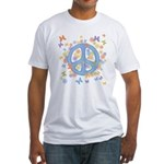 Peace & Butterflies Fitted T-Shirt