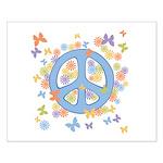 Peace & Butterflies Small Poster