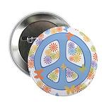 """Peace & Butterflies 2.25"""" Button"""