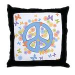 Peace & Butterflies Throw Pillow