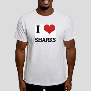 I Love Sharks Ash Grey T-Shirt