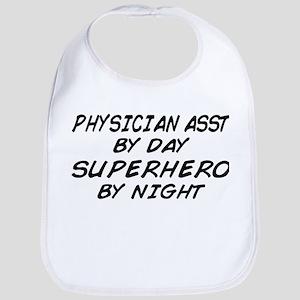 Physician Assistant Superhero by Night Bib