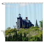 Huron Island Lighthouse Shower Curtain
