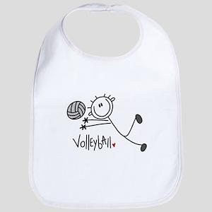 Stick Figure Volleyball Bib