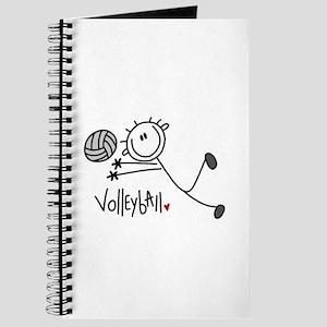 Stick Figure Volleyball Journal