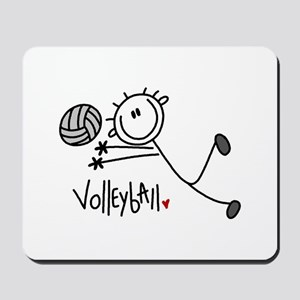 Stick Figure Volleyball Mousepad