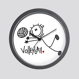 Stick Figure Volleyball Wall Clock