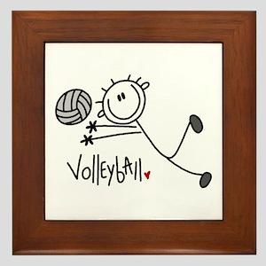 Stick Figure Volleyball Framed Tile