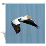 Great White Pelican Shower Curtain