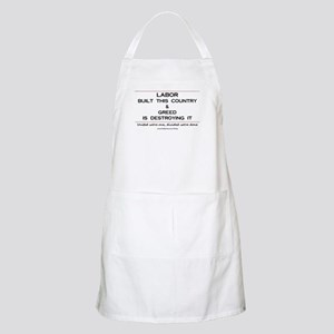 Labor Built The Country BBQ Apron