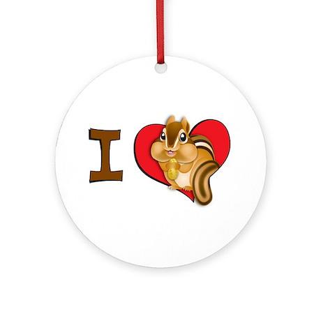 I heart chipmunks Ornament (Round)