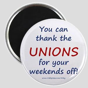 Thank Unions Magnet