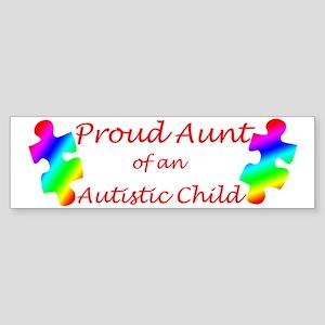 Autism Aunt Bumper Sticker