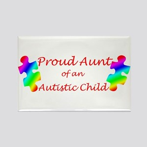 Autism Aunt Rectangle Magnet