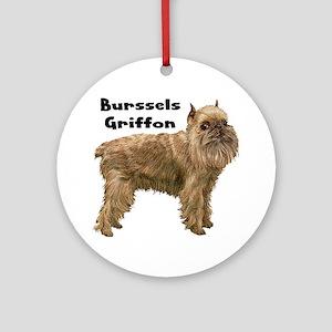 Brussels Griffon Ornament (Round)