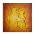Labrador Dog & Friend Tile Coaster
