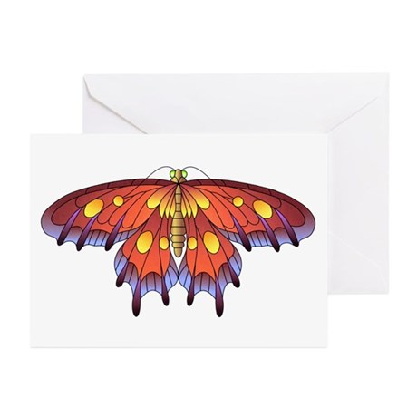 Butterfly Tattoo Art Greeting Cards (Pk of 10)