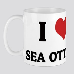 I Love Sea Otters Mug