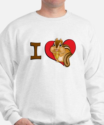 I heart chipmunks Sweatshirt
