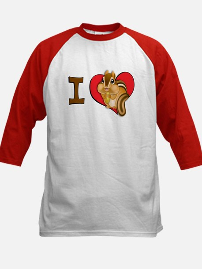 I heart chipmunks Kids Baseball Jersey