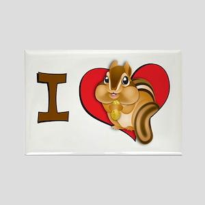 I heart chipmunks Rectangle Magnet