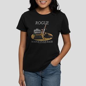 Rogue - Watch Your Back Women's Dark T-Shirt