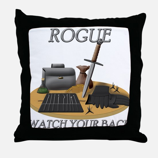 Rogue - Watch Your Back Throw Pillow