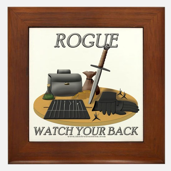 Rogue - Watch Your Back Framed Tile